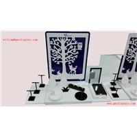 Customized Design White & Black Acrylic Jewelry Display Set 670*288*500mm