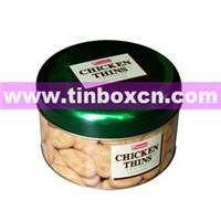 Round Tin Box, Food Tin Box, Tin Can (BR005)