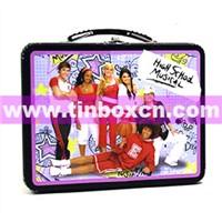 Tin Lunch Box, Lunch Tin Box, Tin Box with Handle, Gift Tin Box