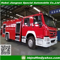 China Sinotruck 8000liters Fire Fighting Truck