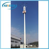 Hot Dip Galvanization Polygonal Telecommunication Monopole Tower
