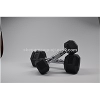 Rubber Coated Hex Rubber Dumbbell Sets