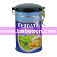 Tea Tin, Tea Box, Tea Caddy, Tin Tea Can, Tin Tea Box (BR1206)