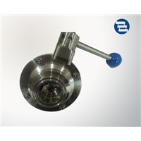Sanitary Stainless Steel Clamped Welded Threaded Joint Butterfly Type Ball Valve