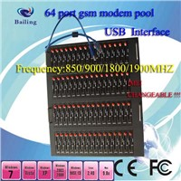 Quad-Band USB Multi-Ports (64ports) GSM/GPRS Modem Pool Based on Wavecom Module Q2686/Q2687/Q24plus
