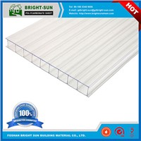 Green House UV Blocking Twin Wall Polycarbonate Sheet with 10 Years Warranty