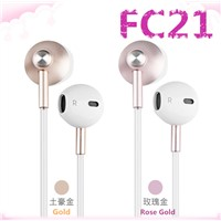 Pink Gold Air Tube Headsets for Anti-Radiation with Mic