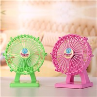 Chargeable Battery Desktop Fan Mini Adjustable Fan Speed
