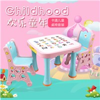 Hot Sale Children Study Tables & Chairs Kids Folding Plastic Table & Chair Funiture Set