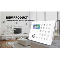 GSM/PSTN Dual-Network TFT/LCD Screen Keypad Wireless Home Intelligent Alarm System