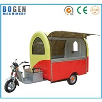 Three-Wheels Semi-Closed Moving Type Food Car