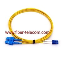 SC-LC Single Mode Duplex Fiber Optic Patch Cord