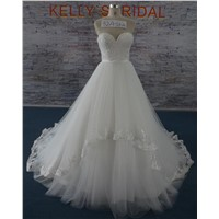 New Collection Elegant Lace & Beads Sweetheard Wedding Gown Bridal Dresses