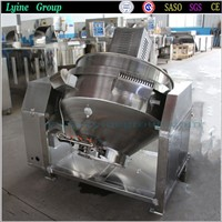 Inclined Gas Electric Steam Heating Cooking Lotus Paste Jacketed Kettle