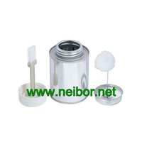 Chemical Industry Use Brush In Can PVC Glue Can Metal Tin Container 100ML 250ML 500ML 1000ML with Screw Lid