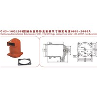 CH3-10 Q/250 TYPE & 3150-4000 A Rated Current Epoxy Resin Contact Box for Circuit Breaker