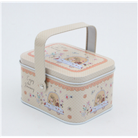 Creative Hand-Hold Tin Box for Children