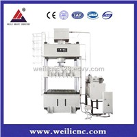 Four-Pillar Single Drive Sheet Drawing Hydraulic Press, 630T Hydraulic Stamping Machine YW27- 630T