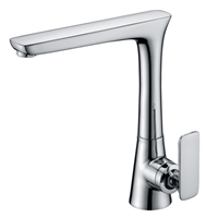 Modern Brass Kitchen Faucet