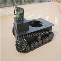 Climbing Crawler Track Chassis with Aluminum Alloy Box
