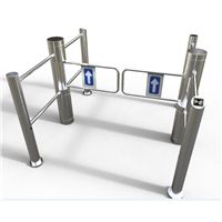 Small Automatic Swing Barrier Turnstiles for Supermarket Access Control System