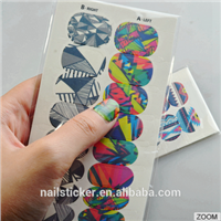 Custom Fashionable Nail Art Wraps High Quality Water Transfer Printing Nail Stickers