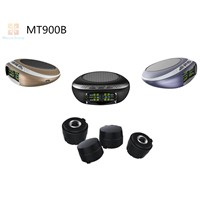 TPMS Wireless Rechargeable Solar Panel Car Tire Pressure Monitoring System+4 External TPMS Sensors MT900B