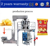 Pillow Potato Chip / Bean Bag for Snacks Packing with Multihead Weigher