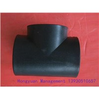 Black Plastic Pipe Fitting PE Injection Molding Equal Tee
