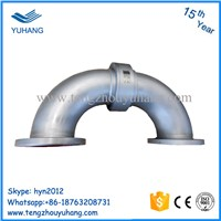 Stainless Steel High Pressure Water Swivel Joint Elbow Flange High Temperature Hydraulic Rotary Union Accept Custom