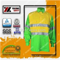 Railway Working Polyester Cotton Safety Reflective Fluorescent Vest