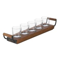 Wooden Tray for Home& Dining Rome, Wood Tray for Wine Glass(WT002)
