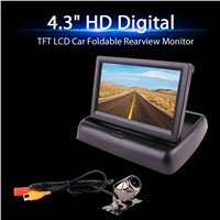 4.3 Inch TFT LCD Car Foldable Rearview Monitor