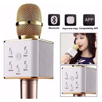 Handheld Microphone Wireless Ktv with Speaker Mic Handheld Microphone KTV Q7 Karaoke Stereo