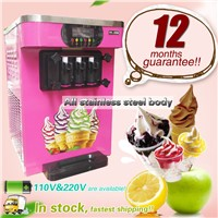 Softy Ice Cream Making Machine, Yogurt Ice Cream Machine, R22 Steel Ice Cream Machine with 3 Flavor