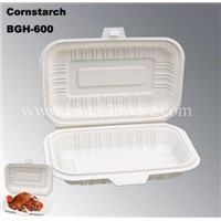 100% Biodegradable Compostable Cornstarch Disposable Take Out Fast Food Box