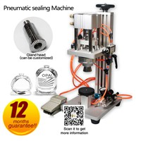 Perfume Bottle Capping Machine, Pneumatic Capper, Metal Cap Press Machine