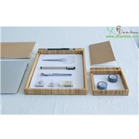 Bamboo Wood Document File Organizer