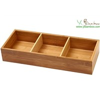 Desktop Bamboo 3 Compartments Organizer
