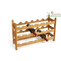 3 Layers Stackable Wine Glass Rack Wood