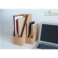 File Desktop Bamboo Wood Organizer Box