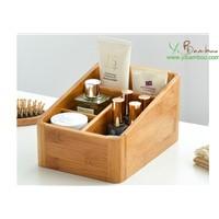 Bamboo Makeup Organizer