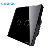 Cnskou EU Standard Smart Home 1Gang1Way Glass Panel Touch Wall Light Switch(SK-A802-01EU)