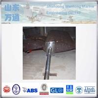 Marine Forged Steel Rudder Blade Rudder Blade For Rudder Fittings