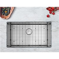 Enbol SD3018 30 Inch 16 Gauge Handmade Undermount Single Bowl Stainless Steel Kitchen Sink