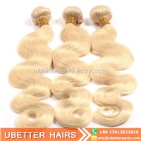 China Factory Remy 613 Color Blonde Body Wave Virgin Peruvian Hair Weaving Extension Bundles