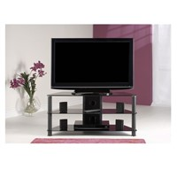 Classic Black Tempered Glass TV Stand Suit for up to 46-Inch LCD LED Oled Tvs