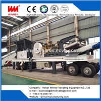 High Effiency Tire Type Mobile Stone Crushing Station Plant