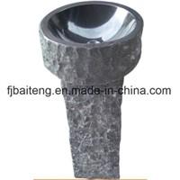 Natural Granite Stone Pedestal Sinks