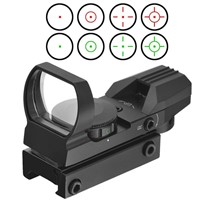 1 x 22 Mini Reflex Air Airsoft Pistol Scopes with 11/20MM Mounts & Covers for Green Red Shotgun Holographic Dot Sights